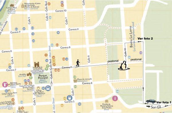 cómo llegar al lugar de la sesshin : mapa